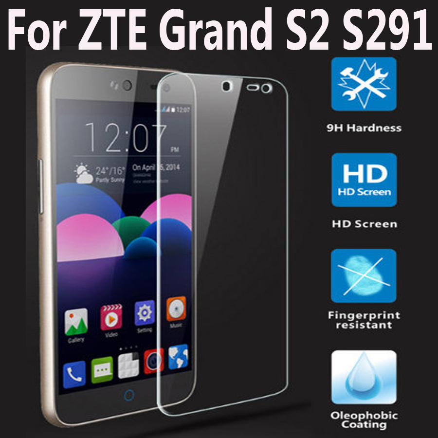 For ZTE S291 Grand S2 S II Tempered Glass Film For ZTE Gran S2 S291 Scerees Protector Cover 9H Mobile Phone Protective Film Case