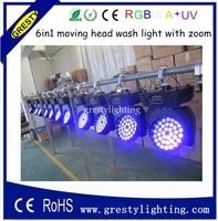 Inculed кейсе (4 in1) dmx 36X18 Вт RGBWA + УФ 6in1 LED Moving головной свет, LED этап Освещение, 36 шт. LED Wash Moving головной свет