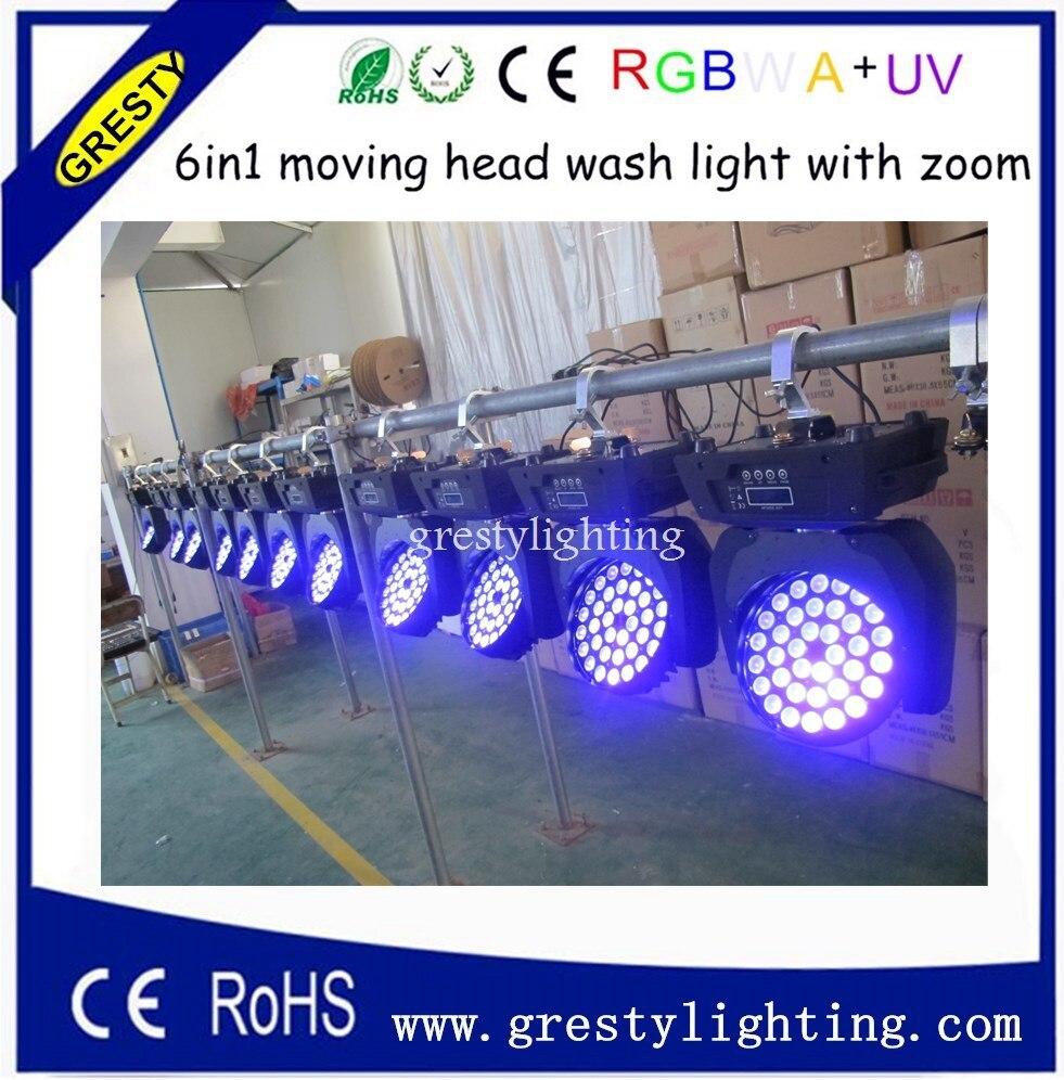 inculed flightcase(4 in1) DMX 36x18W RGBWA+UV 6IN1 LED moving head light,LED Stage Lighting,36PCS LED Wash Moving Head Light shimano catana 2500 fc