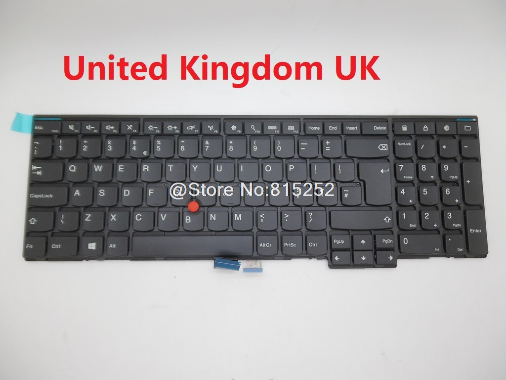 Laotop keyboard For Lenovo For Thinkpad E540 E531 E531 T540 T540P English US United Kingdom UK 04Y2416 04Y2426 With Backlit New laptop keyboard for acer silver without frame united kingdom uk v 121646ck2 uk aezqse00110