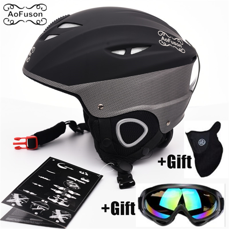 Ski Helmet Snowboard Goggle Cover Up Skiing Glasses Mask Unisex Snowmobile Winter Warm Sport Equipment Integrally