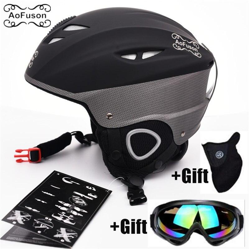 Casque de Ski & Snowboard Lunettes Cover Up Ski Lunettes Masque Unisexe Motoneige Hiver Chaud Sport Équipement Moulée Intégralement Helme