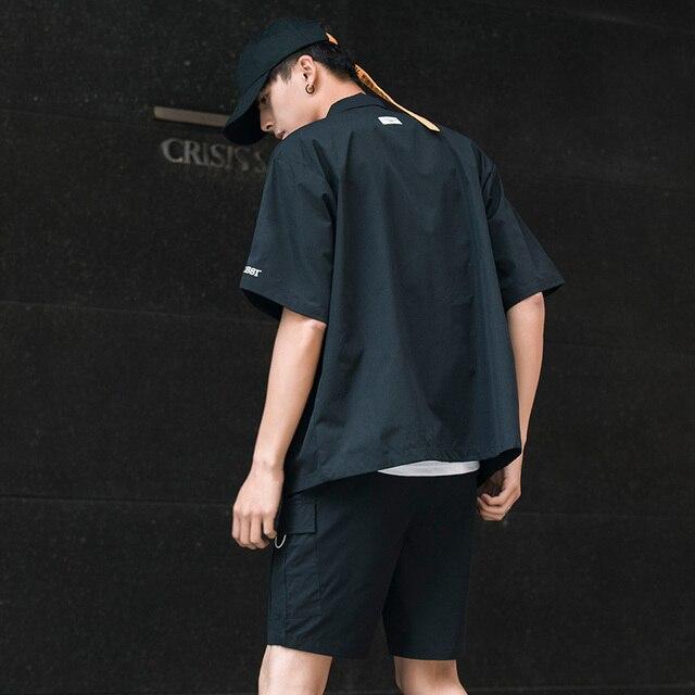 Men's Shirt Summer Short Sleeve Shirt Solid Color Comfortable Men's Tops Fashion Clothes 4
