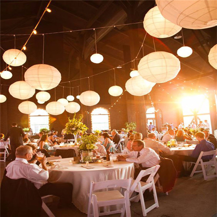 "Paper Lanterns Wedding Decoration Ideas: 6"" 8"" 10"" Inch Multicolor Chinese Traditional Wedding"