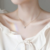 CBO21 Sterling Silver 925 Silver Devil's Eye Necklace Women's Day Korea's girlfriends clavicle chain students