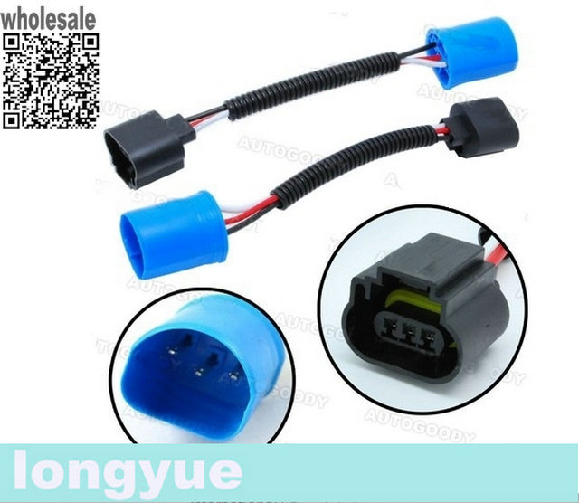 ford wiring connectors promotion shop for promotional ford wiring longyue 2pcs 9007 hb5 to h13 headlight pigtail connector wire harness plug ford dodge 6