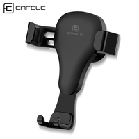 CAFELE Gravity reaction 360 Rotate Car holder Clip type air vent monut GPS car phone holder for iPhone X 7 8 Plus Samsung S8 S9