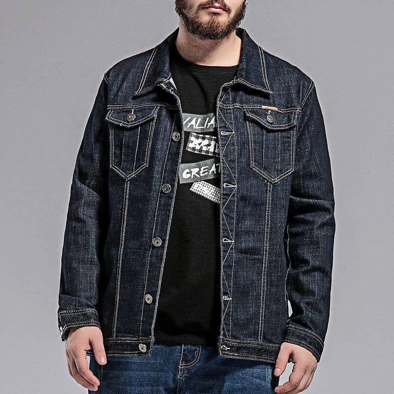 Männer denim jacke herbst neue plus dünger zu erhöhen die Code denim jacke Große größe männer jacke Denim jacke Größe 5XL 8XL-in Jacken aus Herrenbekleidung bei AliExpress - 11.11_Doppel-11Tag der Singles 1