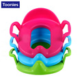 Infant Baby Portable Toilet Potty Seat Cover Children Safe PP Solid Color Training Urinal Ring Pad Kids Travel Car Use Trainers