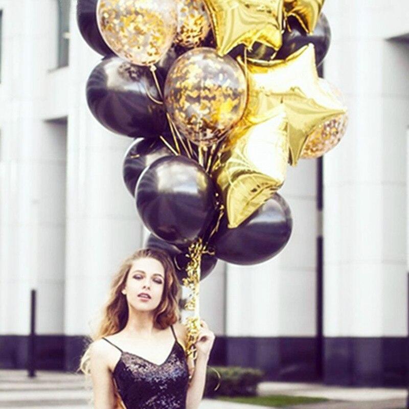 15pcs-10inch-Clear-latex-Confetti-Balloons-18-inch-Star-Balloons-Wedding-Decoration-Happy-Birthday-Balloons