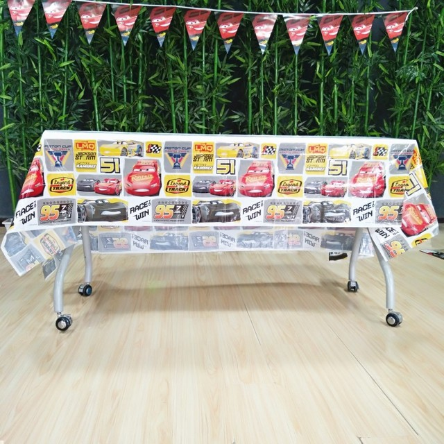 Disney 108180cm Lightning Mcqueen Tablecloth Birthday Party