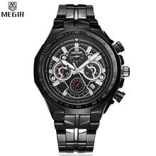 MEGIR Quartz Watches Men Waterproof Multifunction Watch Mens Military Chronograph Watch relogio masculino