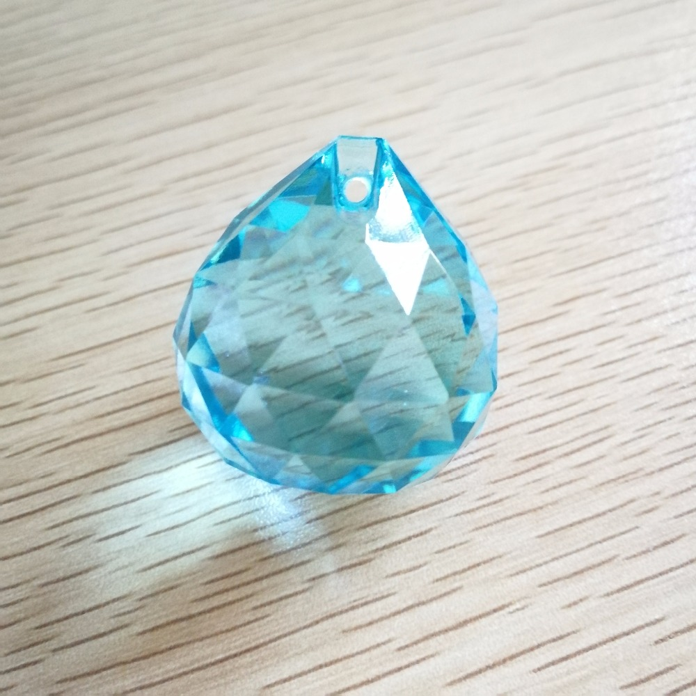 30mm 80pieces Lt.Aquamarine Crystal Crystal-Chandelier-Parts Hanging Crystals Crystal Drops For Chandeliers