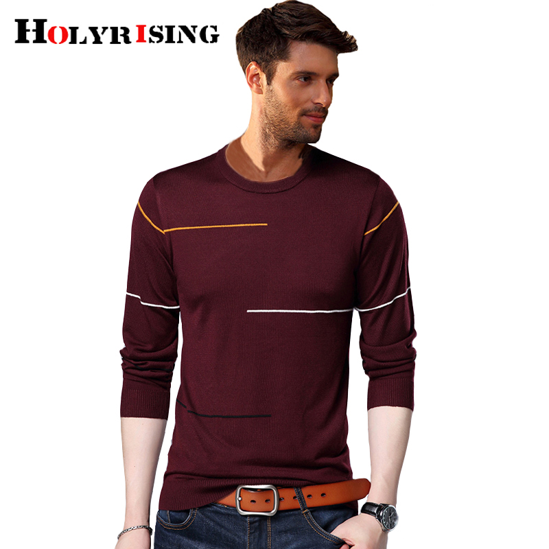 Holyrising Men Sweater O-Neck Pullover 2018 Autumn Winter Sueter Hombre Warm Sweaters Slim Fit Knittwear Pullover Men 18601-5