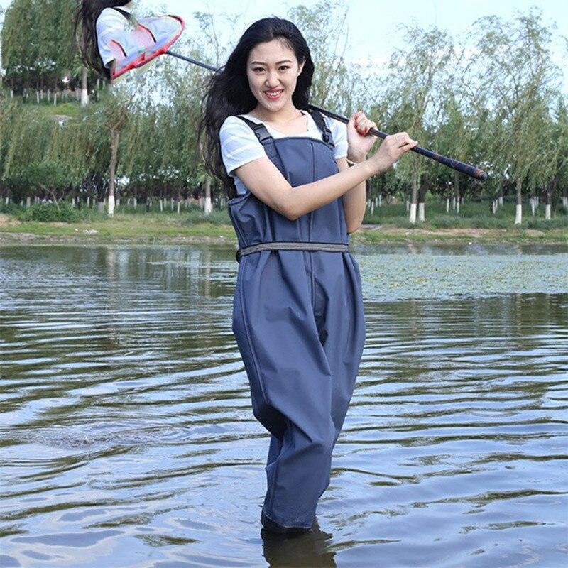Waterproof Eu37 45 Fishing Thickening Half body PVC Waders Pants Non slip Boots Men Women Beach