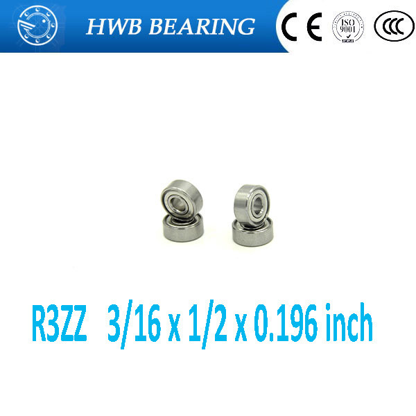 цена на Free shipping 10pcs R3ZZ deep groove ball bearing 4.762*12.7*4.978mm inch miniature bearing 3/16 x 1/2 x 0.196 ABEC3