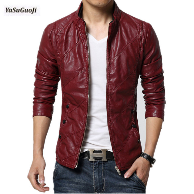 f12c54a5c89 New 2019 water wash PU leather jacket mens leather pilot jacket slim bomber jacket  men plus size outerwear masculino PY19