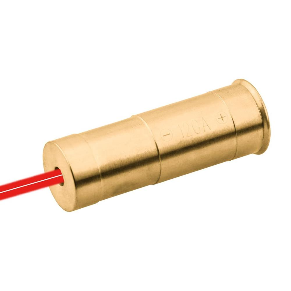 Sistema ótico do vetor 12ga 12 calibre cartucho laser vermelho furo vista ajuste mossberg remington winchester benelli caça espingarda boresight