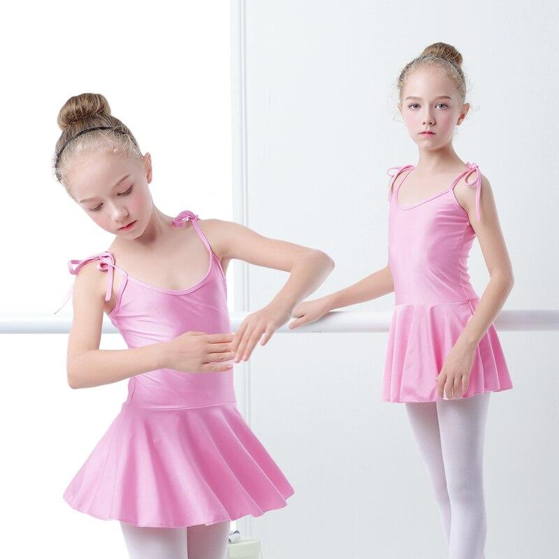 ᓂBrillante Spandex Ballet leotardo niñas niño correas Ballet ...