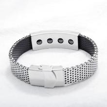 fashion Bangles Men's Slide Mesh Bracelet Silver Wristbands Stainless Steel Male Bracelet Men Bangle Men Jewelry все цены