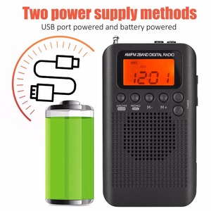 Image 3 - JINSERTA Portable Mini FM/AM Radio Speaker Music Player with Alarm Clock LCD Digital Display Support Battery and USB Powered