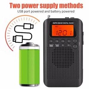Image 3 - JINSERTA Tragbare Mini FM/AM Radio Lautsprecher Musik Player mit Wecker LCD Digital Display Unterstützung Batterie und USB powered
