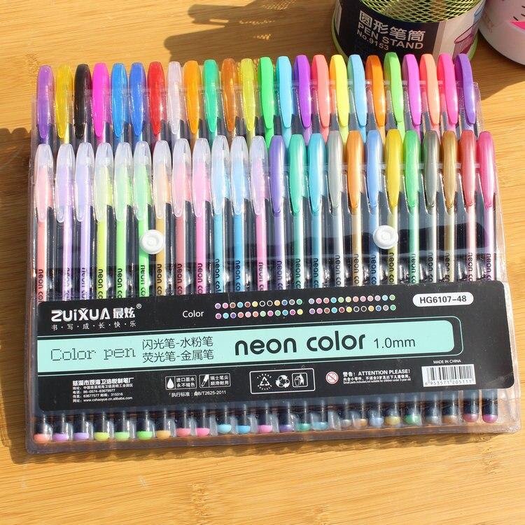 Aliexpress.com : Buy Art stationery 12/48 Color Gel Pens Set ...