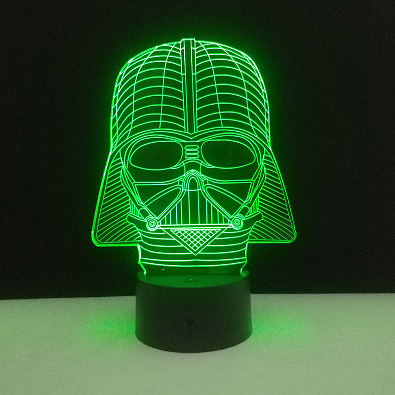 4PCS Lot Star Wars Night Light 3D LED Night Lamp Millennium Falcon Death Star Darth Vader R2D2 USB Table Lamps Home Nightlight in LED Night Lights from Lights Lighting