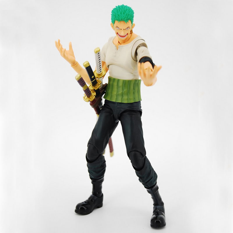 Free Shipping 7 One Piece Anime Roronoa Zoro Past Blue Variable Boxed 18cm PVC Action Figure Collection Model Doll Toys Gift brand new portrait of pirates one piece roronoa zoro 23cm pvc cool cartoon action figure model toy for gift kids free shipping