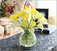 10pcs/lot Real Touch Lily Calla Artificial Flower Bouquets Home Wedding Bridal Flowers home Decorative Flowers & Wreaths