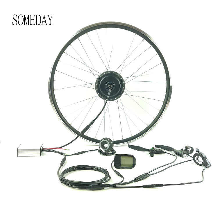 SOMEDAY E-bike conversion kit with LCD5 display 36V250W EBIKE rear cassette hub motor Whole Waterproof Cable Easy install