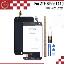ocolor For ZTE Blade L110 LCD Display And Touch Screen Mobile Phone Accessories For ZTE Blade L110 +Tools And Adhesive