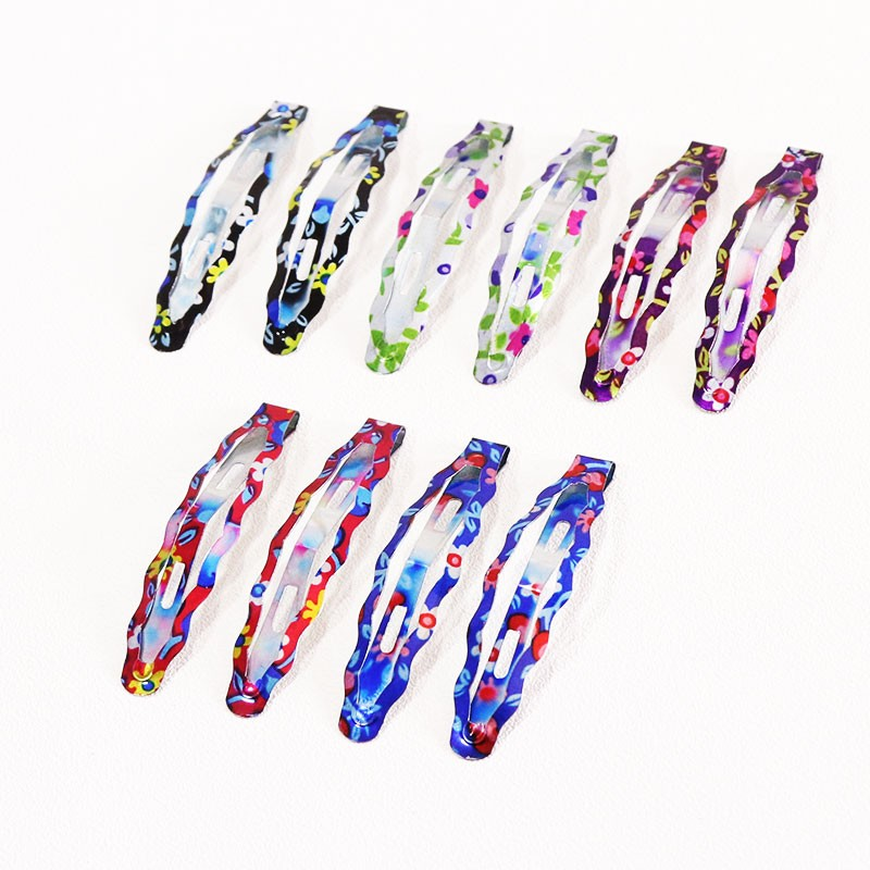 HTB12o6bOpXXXXbfXXXXq6xXFXXX9 Delightful Flower Geometric Print Hair Clip Set For Women - 7 Sets