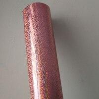 Голографическая фольга Горячее тиснение фольгой нажмите на бумаге или пластиковой розовый кристалл точка узор теплообмен фильм 64 см x 120 м