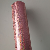 Holographic foil hot stamping foil hot press on paper or plastic pink Crystal Point pattern heat transfer film 64cm x 120m
