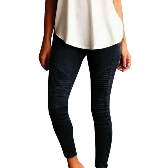 Leggins Mujeres Pantalones Flacos de la Alta Cintura Del Lápiz Del Estiramiento Pantalones Casuales Pantalones Delgados Mujeres Leginsy Damskie #212