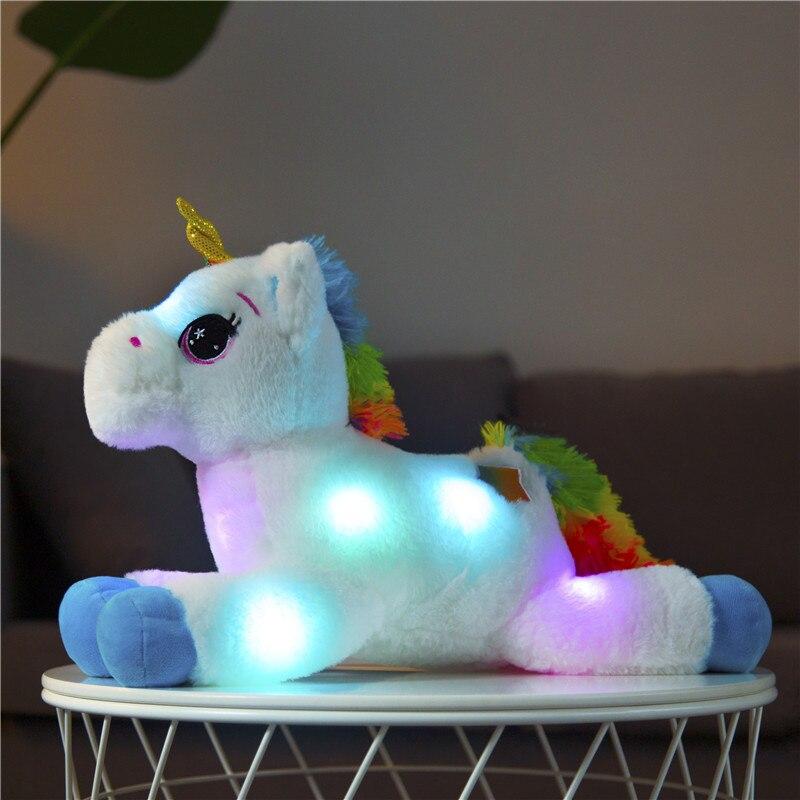 40cm LED Plush Light Up Toys Unicorn Stuffed Animals Plush Toys Cute Pony Horse Toy Soft Doll Kids Toys Christmas Birthday Gifts stuffed toy