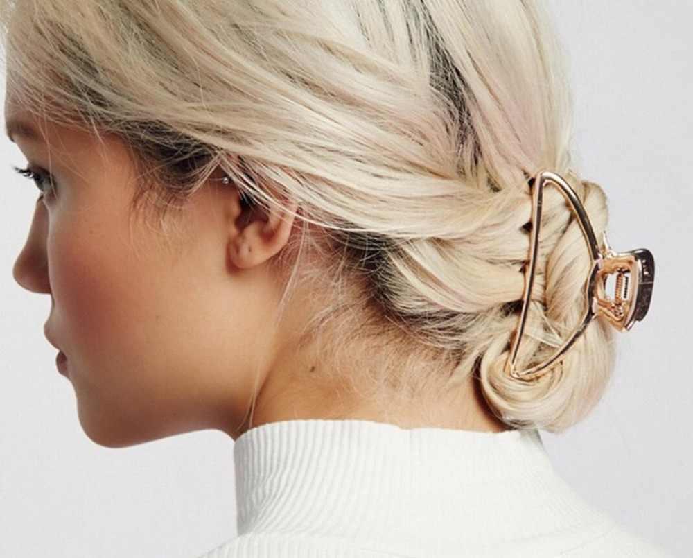 cc2ba1912c8b ... Европейский и американский Ретро Женские аксессуары для волос минимализм  металлические геометрические шпильки большой душ волосы хватают ...