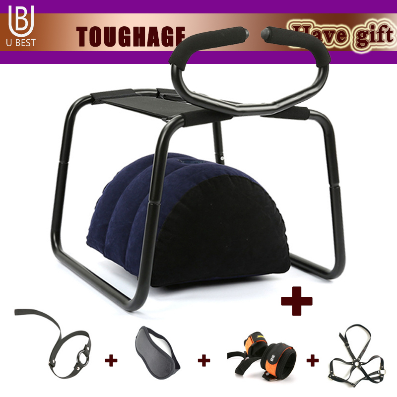 TOUGHAGE Weightless Love Sex Chair Sex Furniture Inflatable Pillow Stool With Handrail Sex Toys for Woman Couples Products Sofa