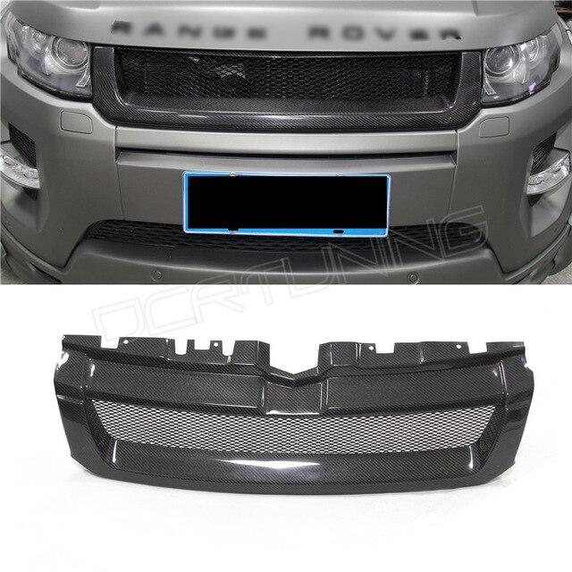 Для Land Rover Range Rover Evoque 2012 2013 2014 2015 углерода Волокно передняя решетка
