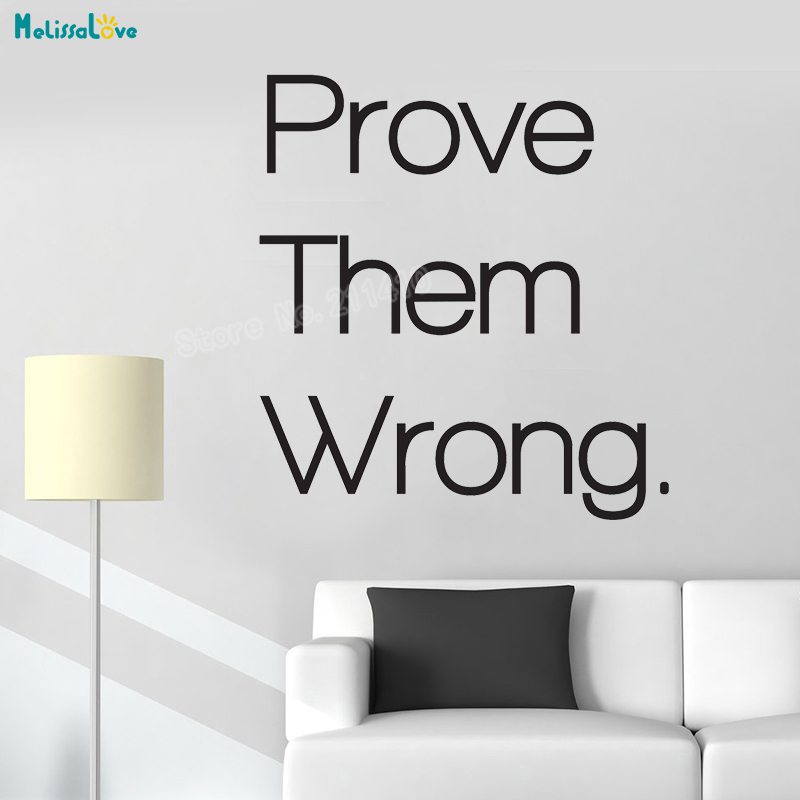 Vinyl Wall Sticker Prove Them Wrong Motivational Quote Decals Home Decor For Living Room New