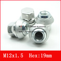 1PCS M12x1.5 REPLACEMENT WHEEL NUTS ALLOY 19MM FOR FORD /Kuga CORTINA  EcoSport Fiesta FOCUS CHROME