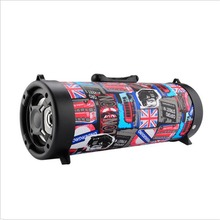 DJYG subwoofer 15W Big Power Wireless Bluetooth Speaker Portable Cool Graffiti Hip hop Style Adjustable Bass Outdoor Music pla