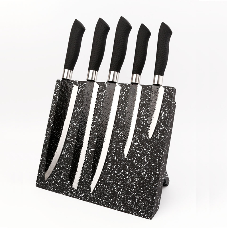 Soporte de cuchillo magnético plegable negro de madera de bambú soporte de cuchillo magnético herramienta de cocina soporte de bloque de almacenamiento creativo-in Bolsos bloque y rollo from Hogar y Mascotas    1
