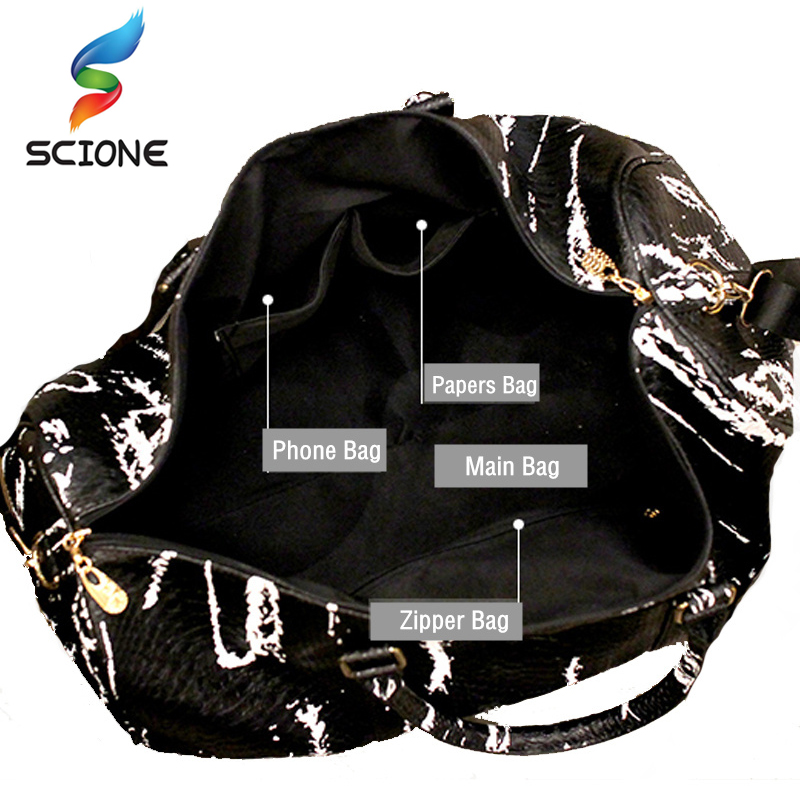 Hot Large Travel Yoga Handbag Snake Pattern PU Leather Sports Mens Gym Bag PU Tote For Womens Duffel Bags Cross Shoulder Bag