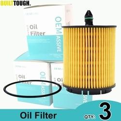 QTY 3, Oil Filter 12605566 For Buick Chevrolet HHR Cadillac BLS 2007 2008 2009 2010 / Chevrolet Malibu 2011 2012 2013 2014 2015