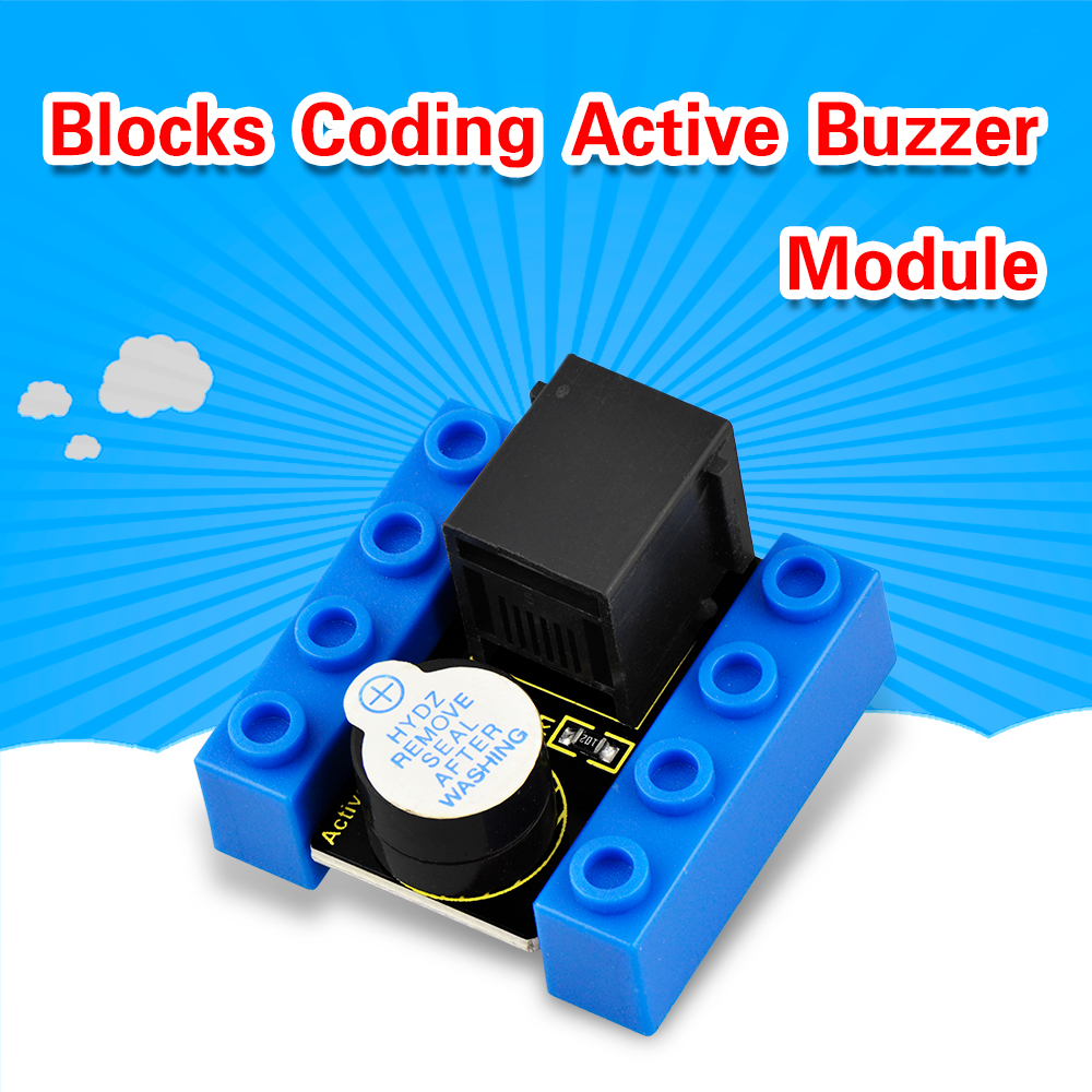 Kidsbits Blocks Coding Active Buzzer Module For Arduino STEAM EDU