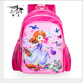 Pink Lovely Cartoon Princess Sofia Girls School bags Children Kids Backpack Good Quality Waterproof Bag sac a dos enfant