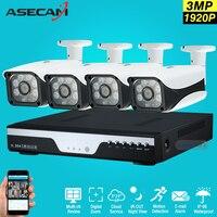 Горячая 4 CH Full HD 1920 P AHD CCTV Камера видеорегистратор Регистраторы 3mp Главная Открытый безопасности Камера Системы комплект массив наблюдения