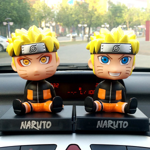 Image 4 - Car Ornaments Anime Naruto Bobble Head Car Decoration Whirlpool Naruto Automotive  Dashboard Decoration Gift Toys